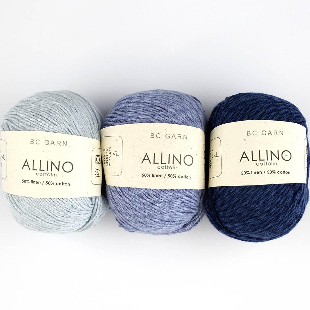 BC Garn Allino Leinen/Baumwolle  naturweiß