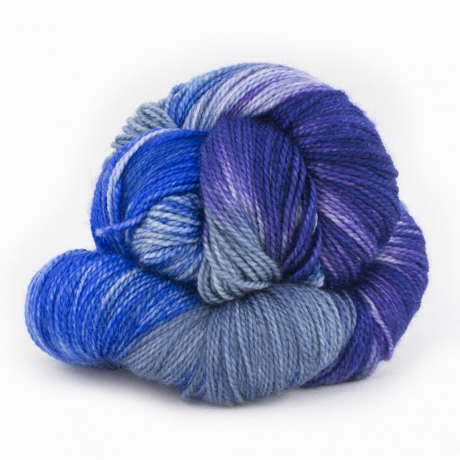 Cowgirl Blues Merino Twist Yarn Farbverlauf (100g)  CobaltAirforceBlueberryIcedberry