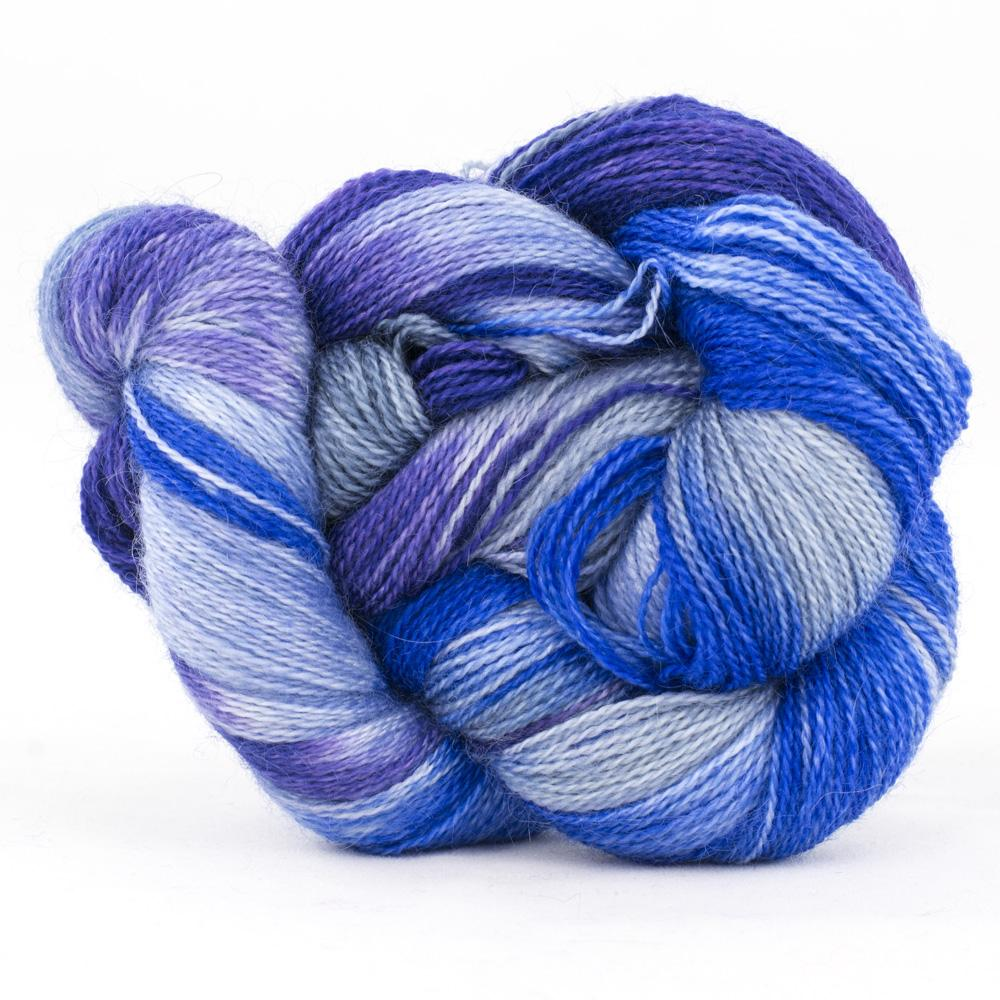 Cowgirl Blues Mohair Wool 2ply Lace Farbverlauf