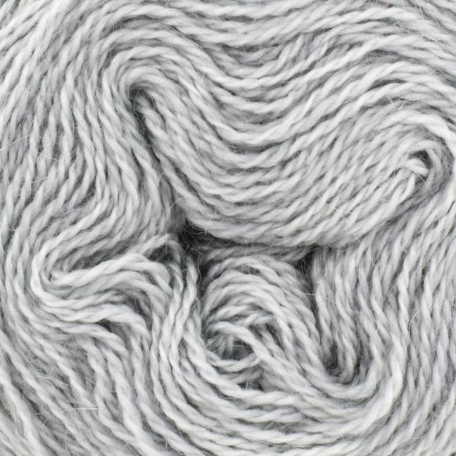 Cowgirl Blues Mohair Wool 2ply Lace (25g) solids Silver Fox
