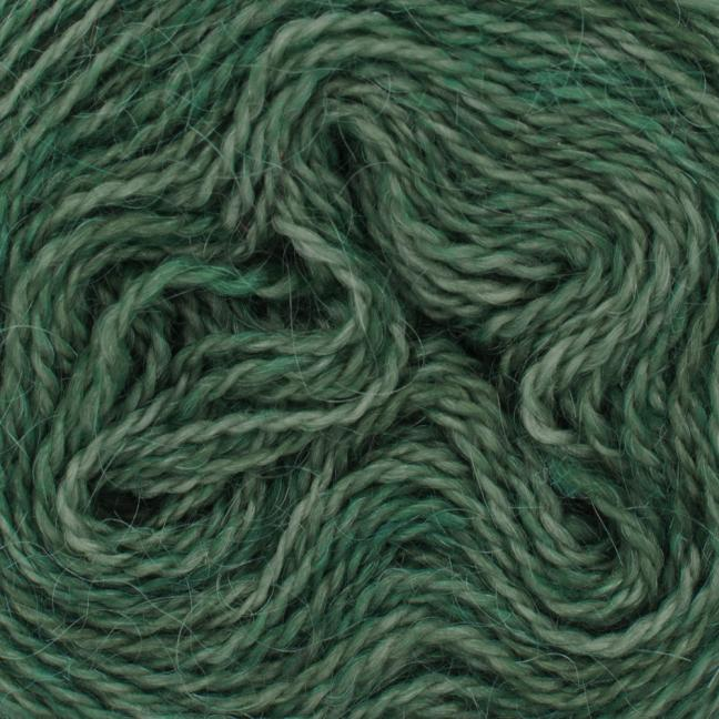 Cowgirl Blues Mohair Wool 2ply Lace (25g) solids Rainforest