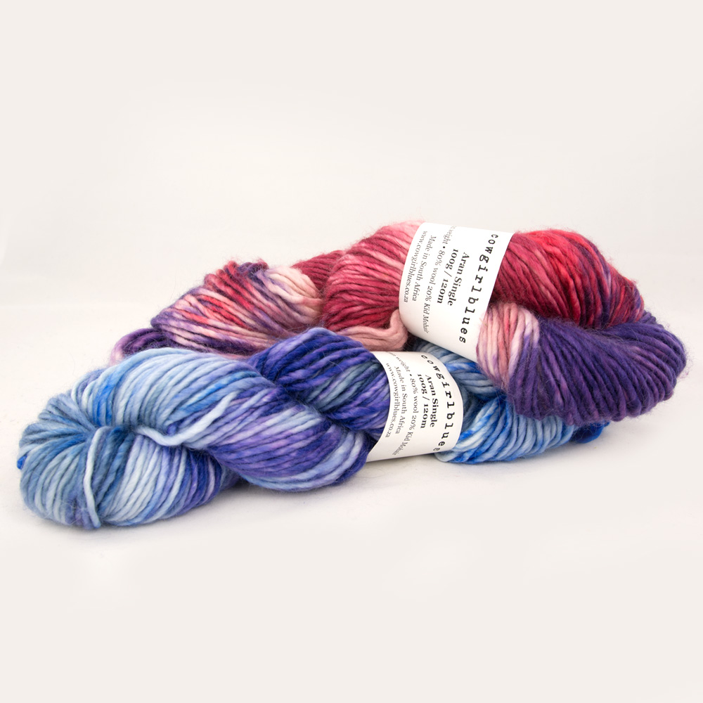 Cowgirl Blues Aran Single Farbverlauf (100g)