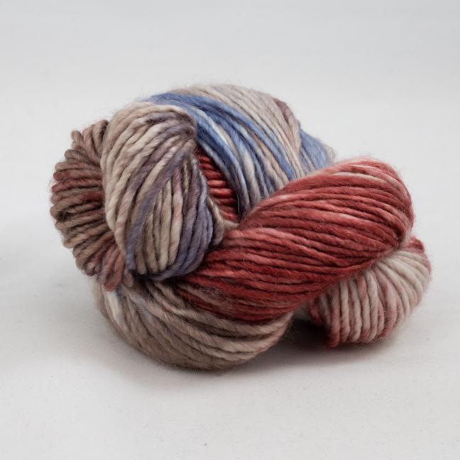 Cowgirl Blues Aran Single Farbverlauf (100g) MarsalaSableCocoaDenim