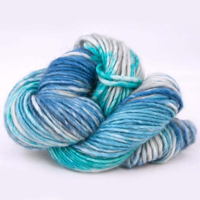 Cowgirl Blues Aran Single Farbverlauf (100g) GuineaSeaSilverEmerald