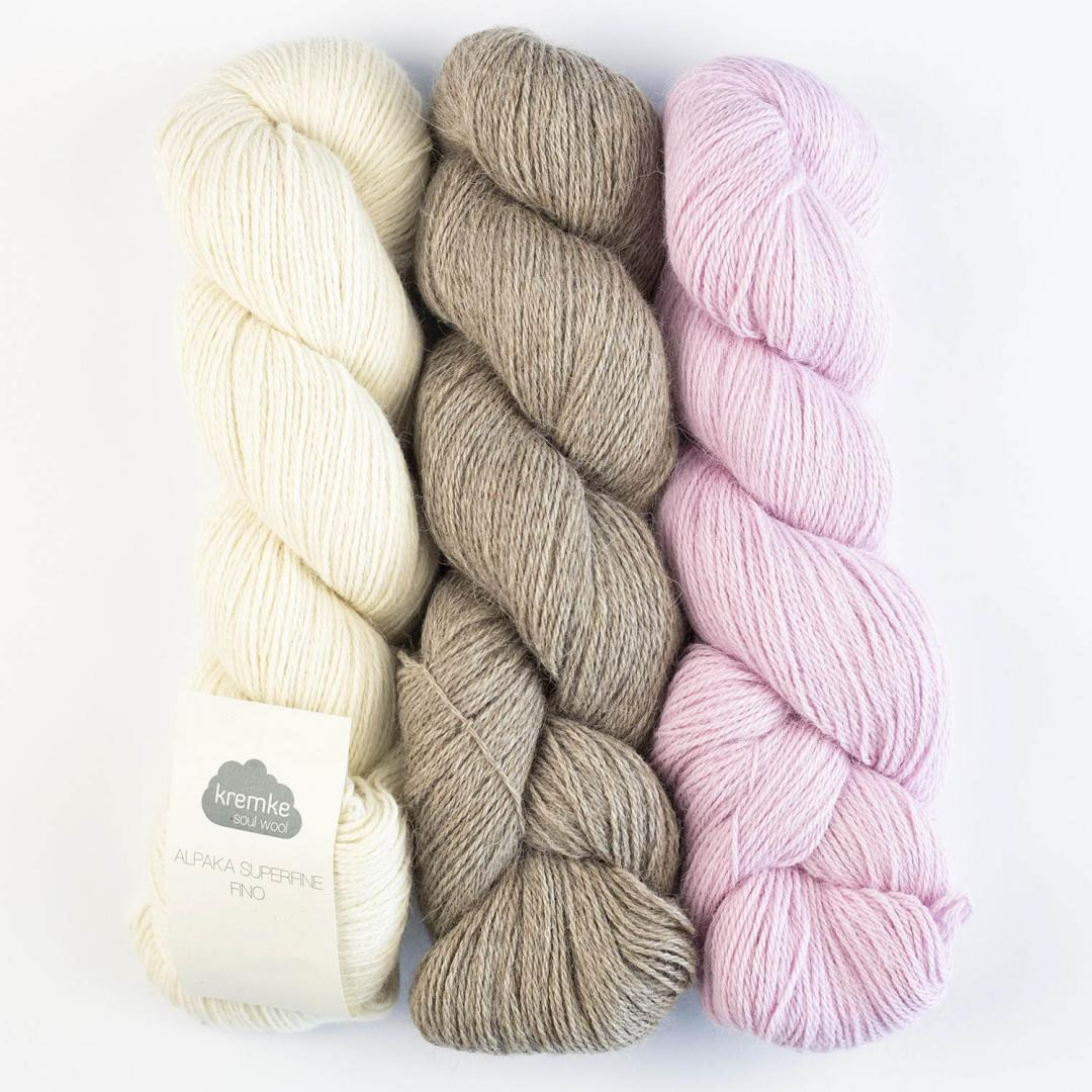 Kremke Soul Wool Alpaka Superfine Fino (100g)  hellgrau_10130