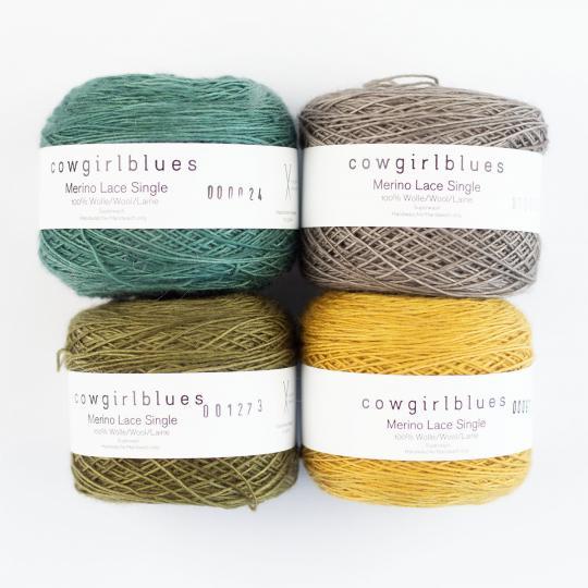 Cowgirl Blues Merino Single Lace solids
