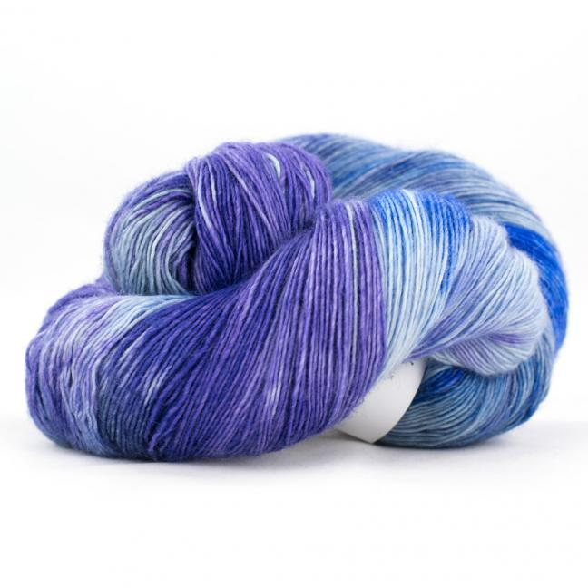 Cowgirl Blues Merino Single Lace Farbverlauf   CobaltAirforceBlueberryIcedberry