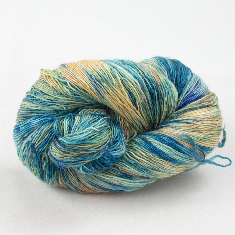 Cowgirl Blues Merino Single Lace Farbverlauf 100g Shorebreak